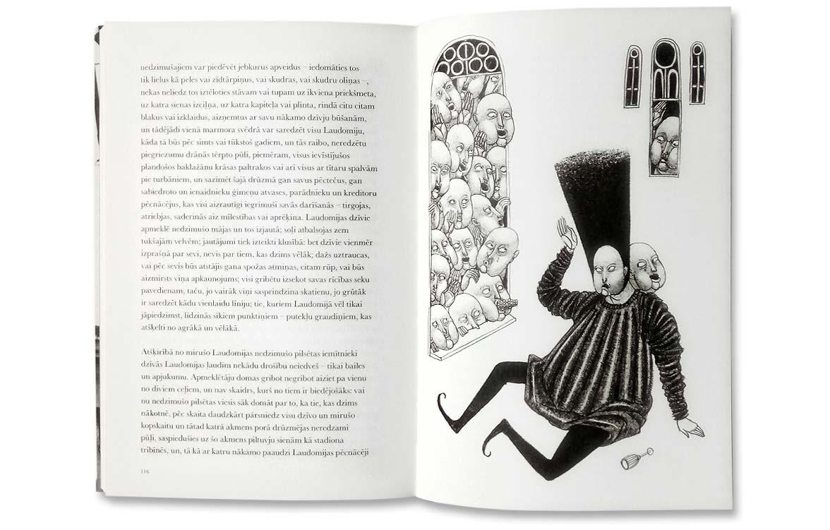 Kalvīno Neredzamās pilsētas, Elīnas Brasliņas ilustrācija